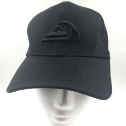 Quiksilver ball cap hat S M mountain waves black new small m