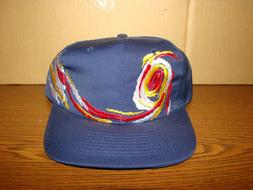 Nissun Baseball Cap Navy with Wave Pattern