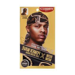 RED by KISS Power Wave Luxe Pattern Durag 360 Waves HDUPPL0