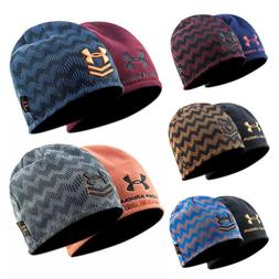 Under Armour Hat Beanie Wave Stripe Opposite side Embroidere