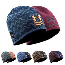 Under Armour Hat Beanie Wave Stripe Storm Embroidered UA Win