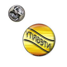 Integrity Gold Waves Clouds Lapel Hat Tie Pin Tack