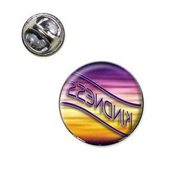 Kindness Gold Purple Waves Clouds Lapel Hat Tie Pin Tack