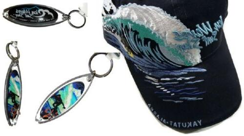 surfers gift set ball cap and key