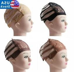 Lace Stretchable Wig Inner Making Weave Base Cap Hair Net Ad