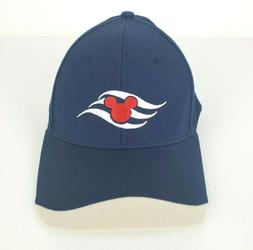 Disney Cruise Lines Mickey Mouse Icon Wave Hat Cap Navy Blue