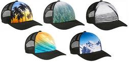Port Authority Photo Real Snapback Mesh Back Hat Cap Palm Tr