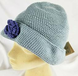 Silver Wave Womens Hat Beanie Cotton Crocheted One Size Sun